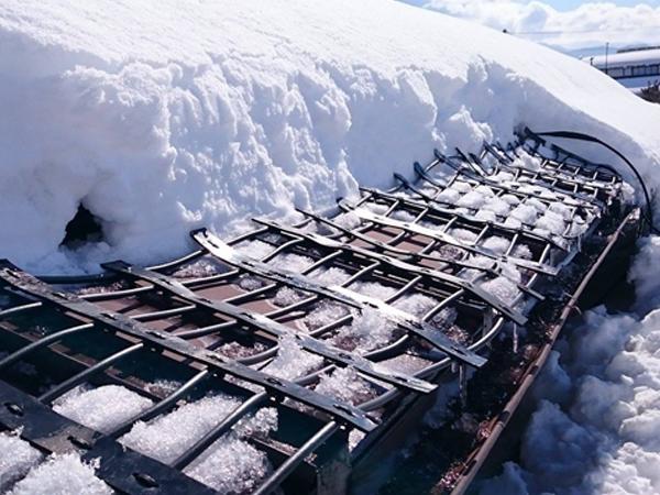 遠赤外線屋根融雪へ